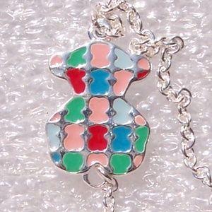 Tous Bracelet TARTAN BEAR Multicolored Enamel